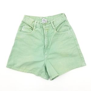 Vintage Bongo Pastel Mint Jean Shorts High Rise 0
